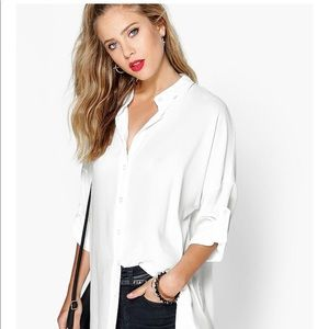 Long oversized sleeve button up